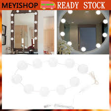 SALE Vanity <b>LED Makeup Mirror Lights</b> Dimmable Bulb Warm Cold ...