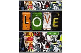 <b>Апплика Тетрадь</b> Граффити <b>Love</b> линейка А5 (96 листов ...