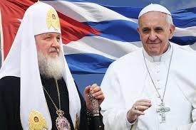 Resultado de imagen para imagenes del encuentro del papa francisco y su Santidad Kirill