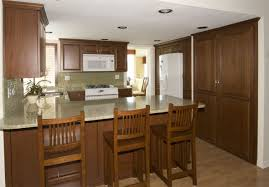 cheap kitchen cupboard:  kitchen cabinets large size pretty cheap kitchen cabinet ideas with dark color and three stools