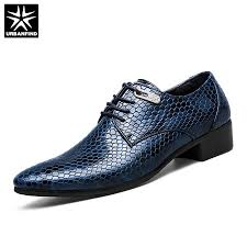 New Imitate Snake Leather <b>Men</b> Oxford Shoes Lace Up Casual ...