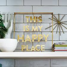 <b>This is My Happy</b> Place Metal Word Art