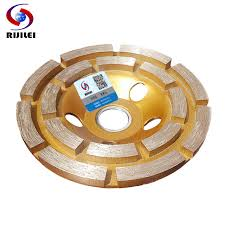 <b>RIJILEI</b> 4inch 100mm Diamond double row Grinding Wheel Disc ...