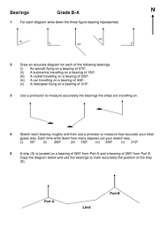 GCSE Maths: Revision Worksheets D-B Grade by dominicpenney ...Bearings B-A.doc