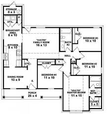 Story House Plans With Bedrooms   Irynanikitinska com Story House Plans With Bedrooms    Bedroom Single Story Floor Plans