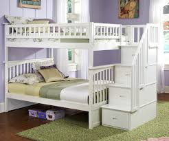 white bunk beds with stairs twin over twin white hardwood bunk bed varnished walnut wood bunk bed boy bedroom decor ideas light gray wall color bunk bed lighting ideas