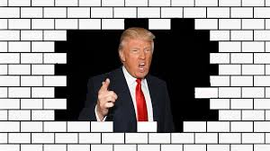 Image result for trump building border wall pics