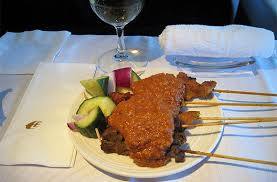 Image result for MAS satay served