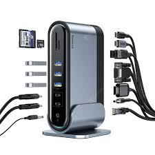 <b>Baseus 16</b> in <b>1 USB</b>-<b>C</b> Docking Station Adapter Smokey Gray ...