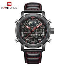 Original NAVIFORCE New <b>Men's Fashion</b> Sport Watch <b>Men</b> Leather ...