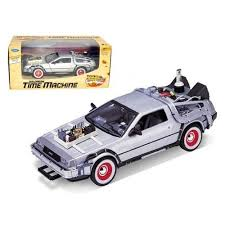 """Delorean From <b>Movie</b> """"Back To The Future 3"""" <b>1/24</b> Diecast Car by ..."""
