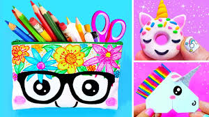 15 DIY <b>UNICORN SCHOOL</b> SUPPLIES for Back To School | Easy ...