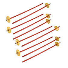 <b>uxcell</b>® 10pcs M10x440mm PP Red Drywall Anchor w Yellow Fixed ...