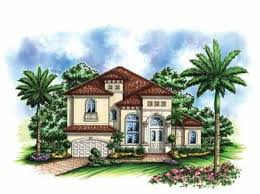 images about Mediterranean Homes on Pinterest   Tuscan Style    Small Mediterranean House Plans   Small Lot Mediterranean Home  HWBDO     Florida House Plan