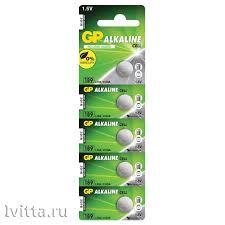 <b>Батарейка GP</b> LR54 (G10, V10GA, LR1130, 189, <b>189A</b>) алкалиновая