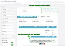 how to create and send pro forma invoices softify easy invoice company information and invoice note fields