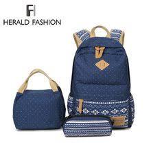 Popular Girl School <b>Backpack</b> with Lunch Bag-Buy Cheap Girl ...