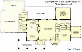 Shingle style house plans by Maine Coast Cottage Co  offering    Four second floor Bedrooms include a private suite   bath and a Balcony that overlooks the Great Room  The unfinished Bonus Space is easily converted to