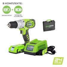 <b>Аккумуляторные шуруповерты Greenworks 24V</b> - от ...