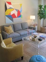 suzie elizabeth sullivan chic gray yellow modern living room design with off white chic yellow living room