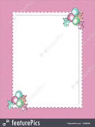 templates easter border cute bunnies stock illustration image and illustration composition of easter cartoon bunnies on pink canvas for holiday greeting card border or background copy space