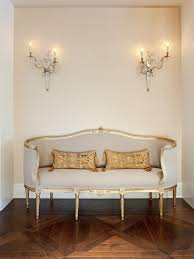 furniture living room wall:  dp jamie herzlinger white french hallway settee vjpgrendhgtvcom
