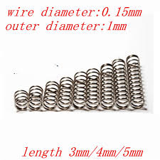 spring 20pcs set wire dia 0 5mm outside dia 3mm length 15 50mm 304 stainless steel tension spring with hooks springs