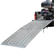 Big Boy EZ Rizer Aluminum <b>3</b>-<b>Piece Folding</b> Motorcycle Ramp - 8' to ...