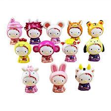 Amazon.com: LVCL Ltd <b>12Pcs</b>/<b>Lot Baby</b> Doll Hello Kitty Figures ...