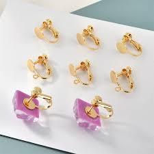 2020 New DIY Copper Painless Diy Tray Rings <b>Wafer</b> Screw <b>Ear</b> ...