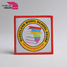 China <b>Custom</b> Clothes <b>Iron</b> on Over Lock Woven Label Patches ...