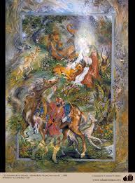 imam reza a s and the gazelle by farshchian gallery of imam reza a s and the gazelle by farshchian