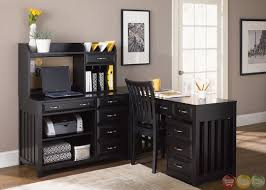 beautiful hampton bay black finish l shaped home office desk home design decoration ideas beautiful office desks shaped 5