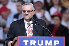 john and ken despicable humans arpaio speaking at a campaign rally for donald trump in phoenix arizona