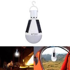 7w solar powered <b>e27 led</b> rechargeable light bulb tent <b>camping</b> ...
