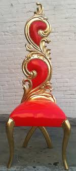 images hollywood regency pinterest furniture: hollywood regency gold leaf amp shiny red vinyl accent x leg chair queen king throne rockstar