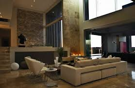 ideas contemporary living room:  contemporary living room ideas best interior landscape cream fabric sofa chairs fireplace potted plants low coffee