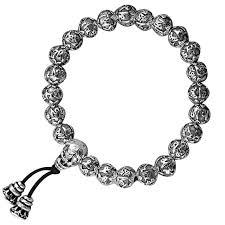 S990 Pure Silver Handmade <b>Vintage Tibetan Buddhist</b> Rope Bracelet
