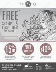 salon flyer template discount coupons and advertisement salon flyer template discount coupons and advertisement showing beautiful w long hair in black