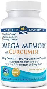 Nordic Naturals <b>Omega Memory with Curcumin</b> 1000 mg 60 Softgels