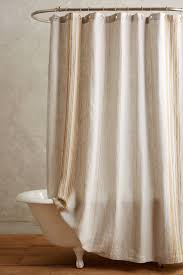 bathroom quot mission linen: striped linen shower curtain  anthropologiecom