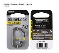 <b>Карабин</b> с блокировкой <b>Nite Ize</b> «<b>SlideLock</b> Carabiner», стальной ...