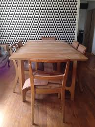 rustic dining room table makeover thrift diving
