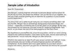 how to write a letter of introductionsample letter of introduction