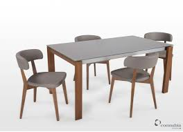 expandable dining table ka ta: taupe glass extendable dining table and four chairs set eminence ez living furniture