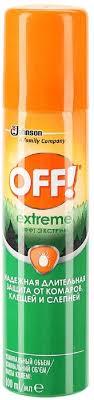 """<b>Спрей от комаров</b> и клещей OFF! """"Экстрим"""", 100 мл — купить в ..."""