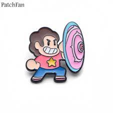 <b>Patchfan</b> Steven Universe Zinc tie <b>cartoon Funny</b> Pins backpack ...