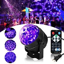 SOLMORE LED UV Black Light 3W Disco Ball Party ... - Amazon.com