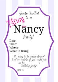fancy nancy party inspiration parties for pennies fancy nancy invitation example by partiesforpennies com
