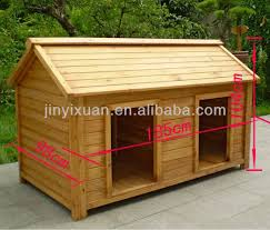 Large dog house  Dog kennels and Large dogs on PinterestWood Double Dog Kennel   Outdoor Large Dog House for Two